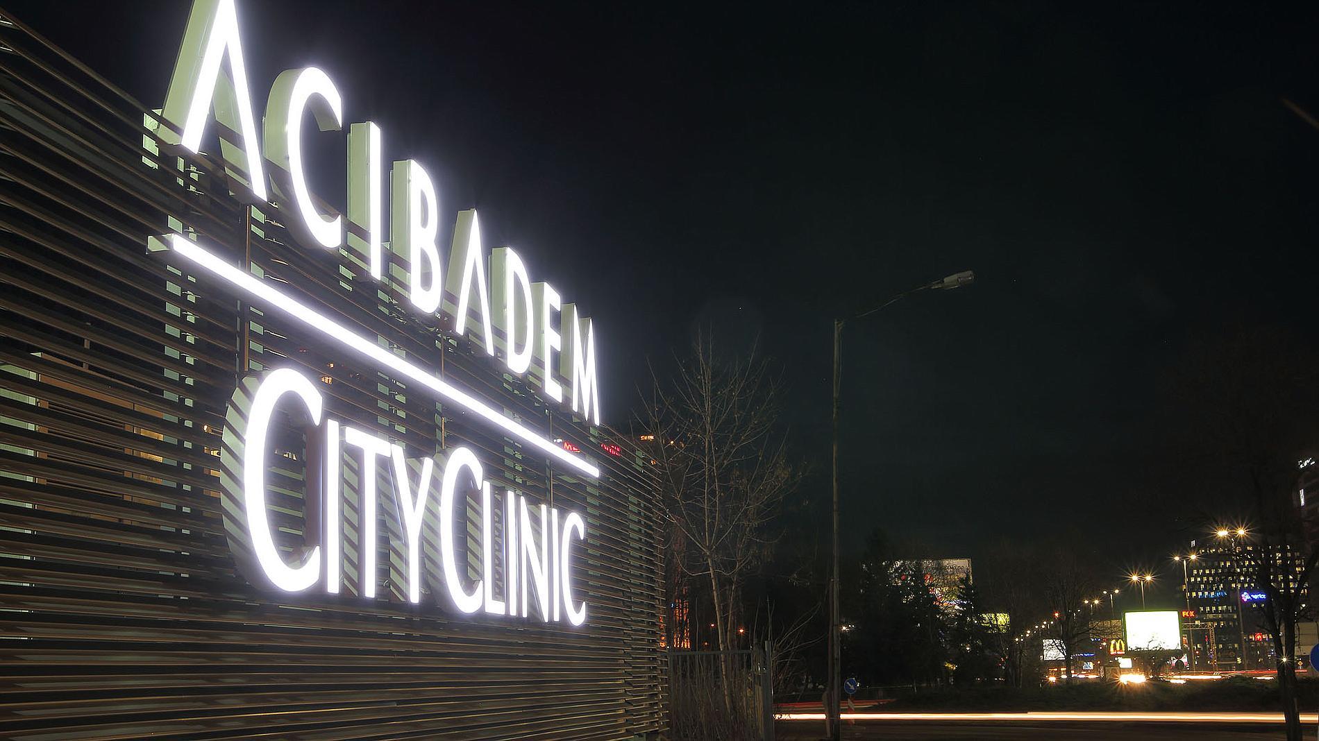 Illuminated letters Acibadem City Clinic, Sofia Oncology