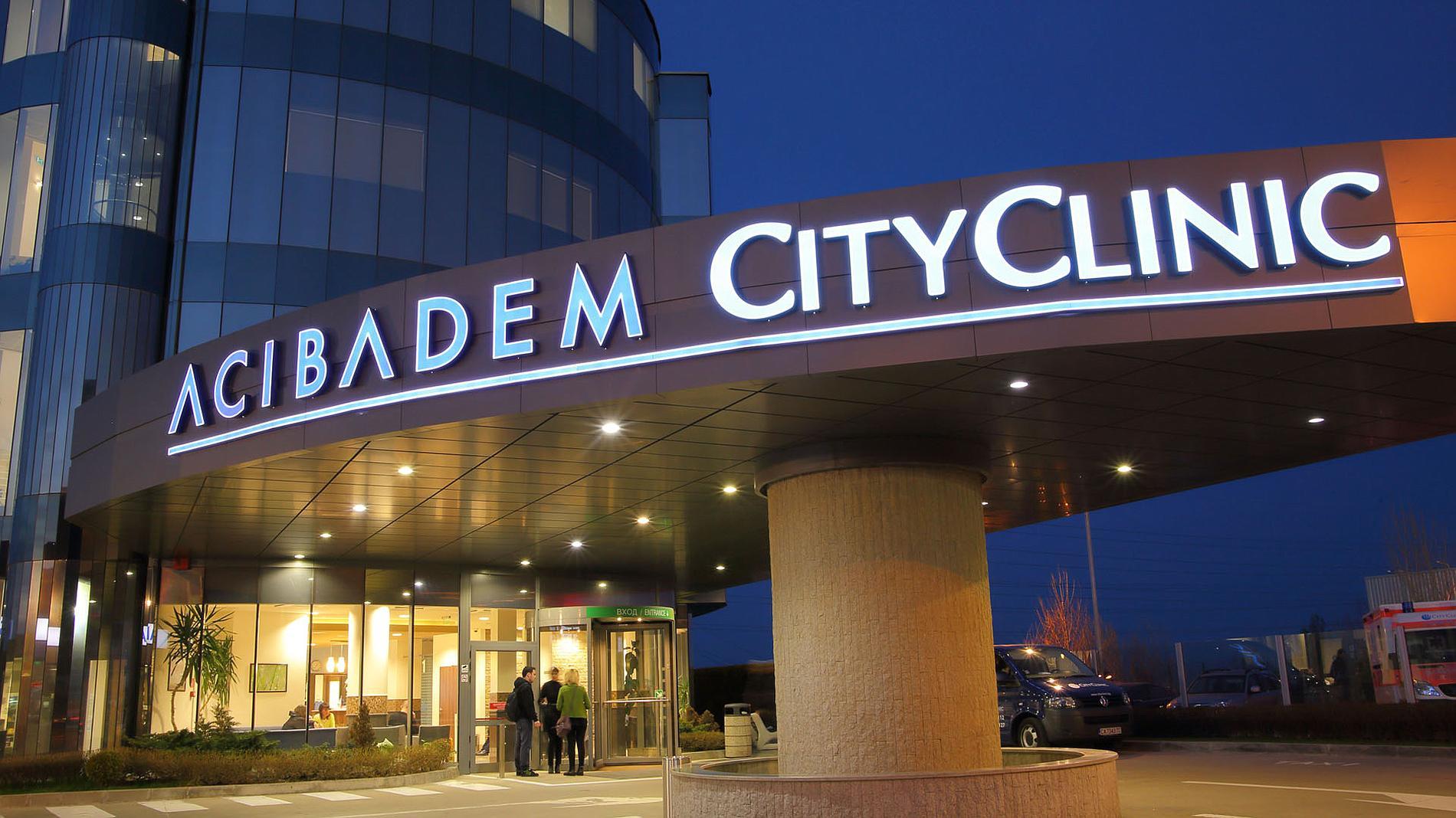 Exterior signage of Acibadem City Clinic