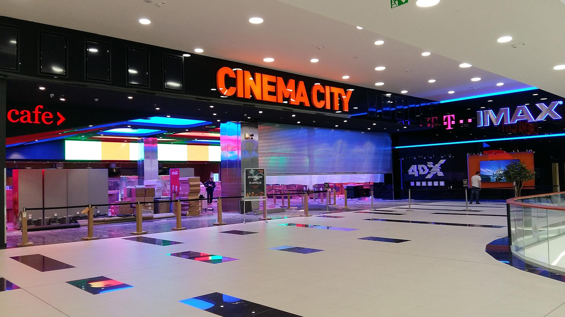 Cinema City interior signage and letters