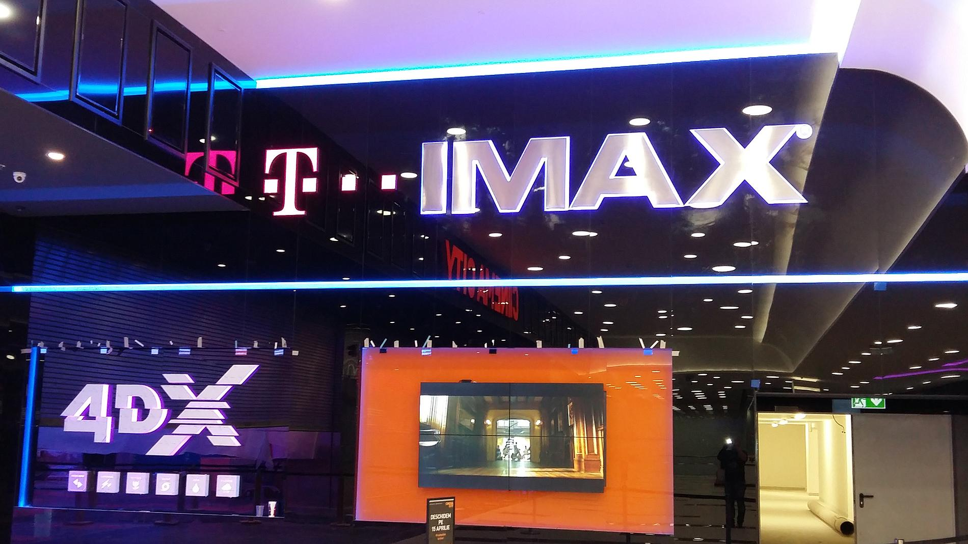 IMAX and 4DX illuminated letters