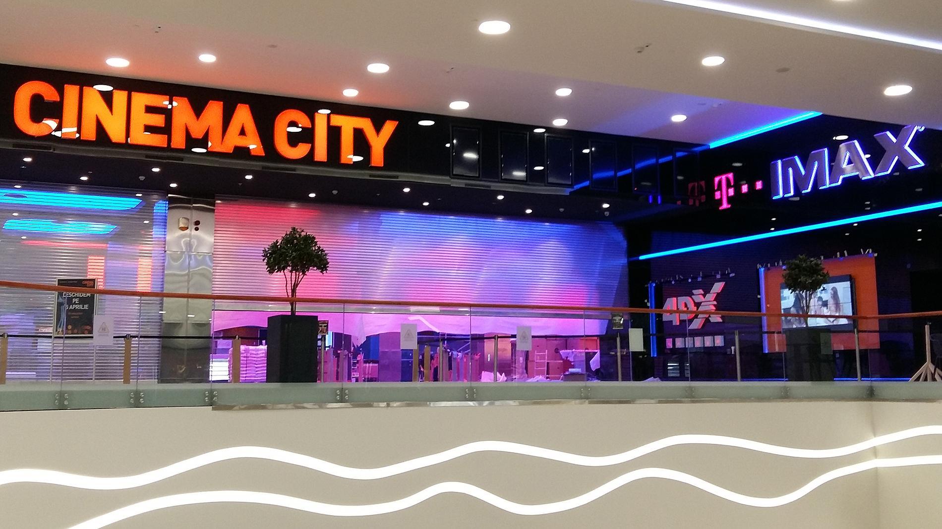 Cinema City interior signage