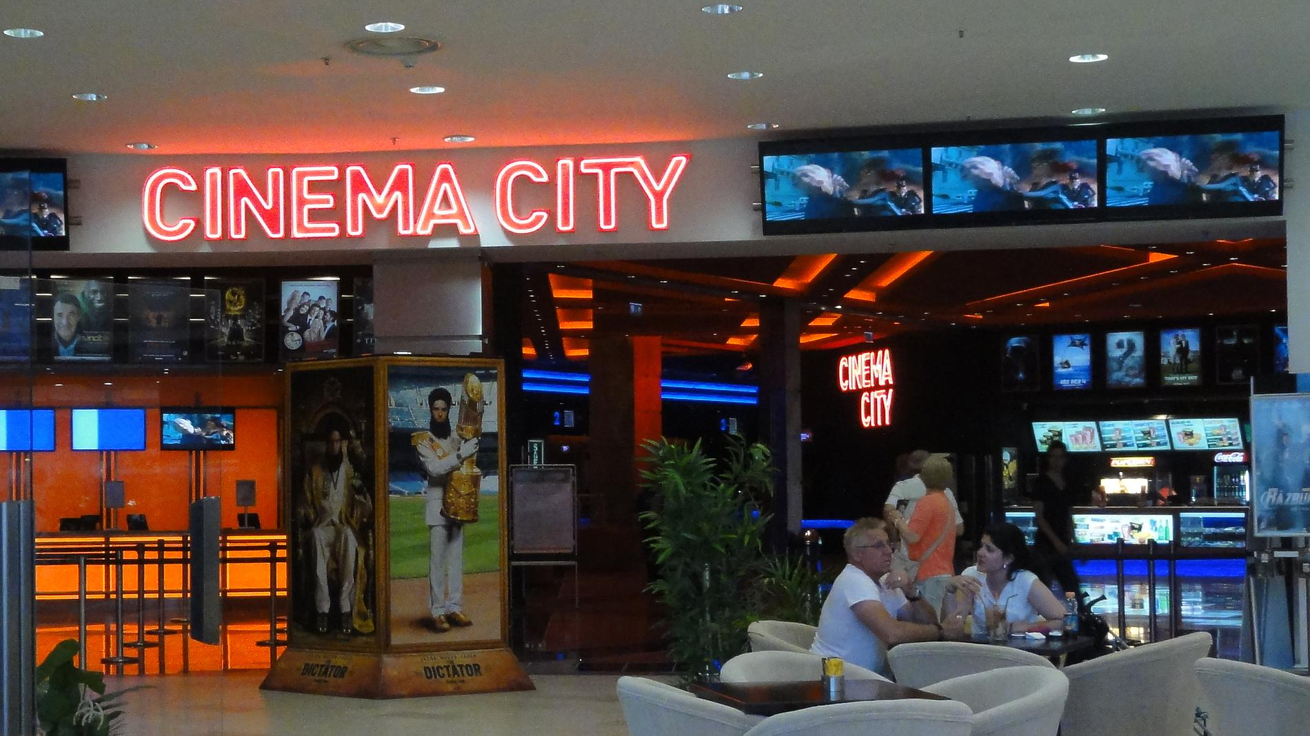 Cinema City - neon letters