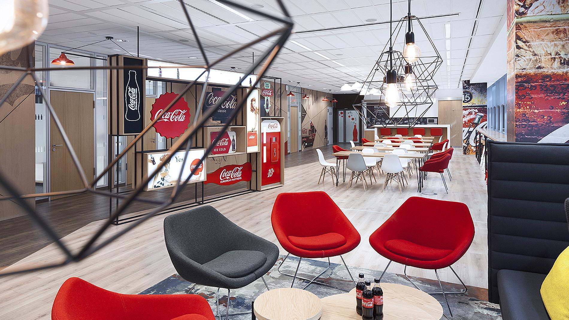 Coca-Cola interior design and branding