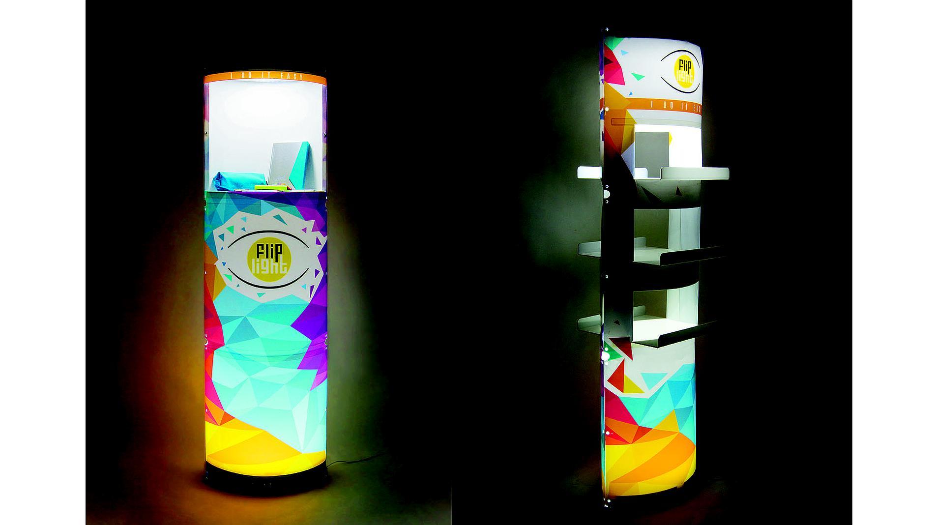 illuminated, portable display