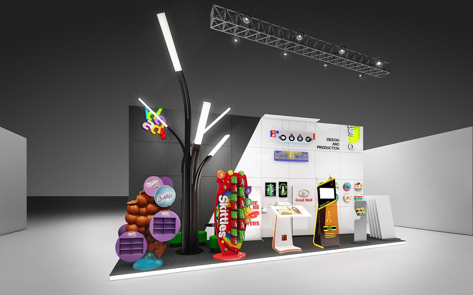 exhibition stand, POS materials, design and production