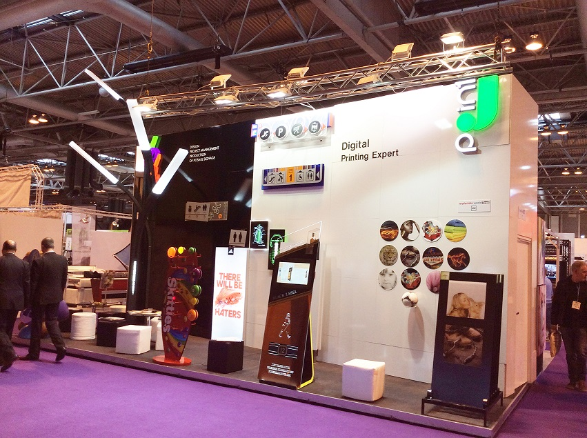 exhibition stand, POS materials, signs, design and production