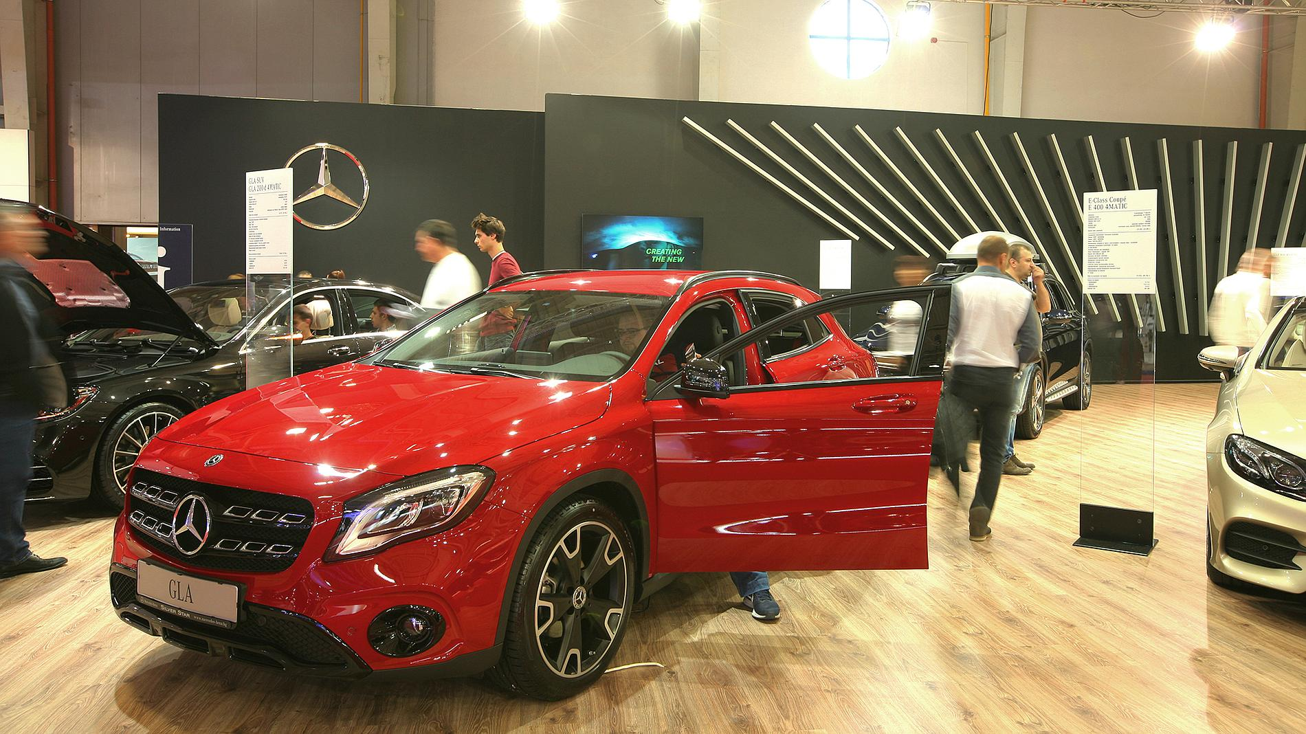 Mercedes exhibition booth, stand