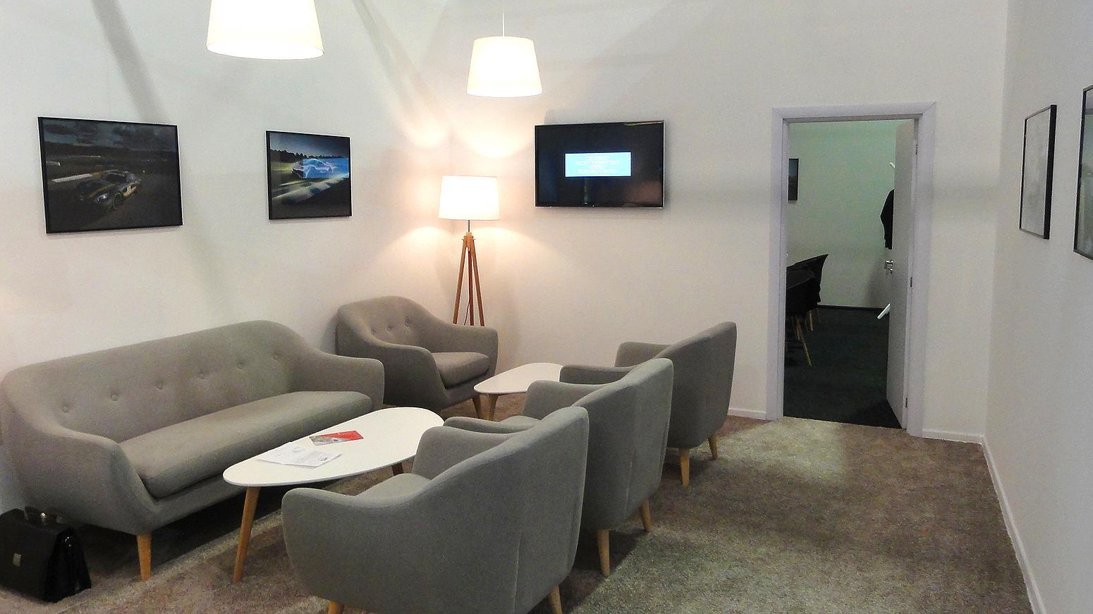 Mercedes exhibition booth, stand, interior