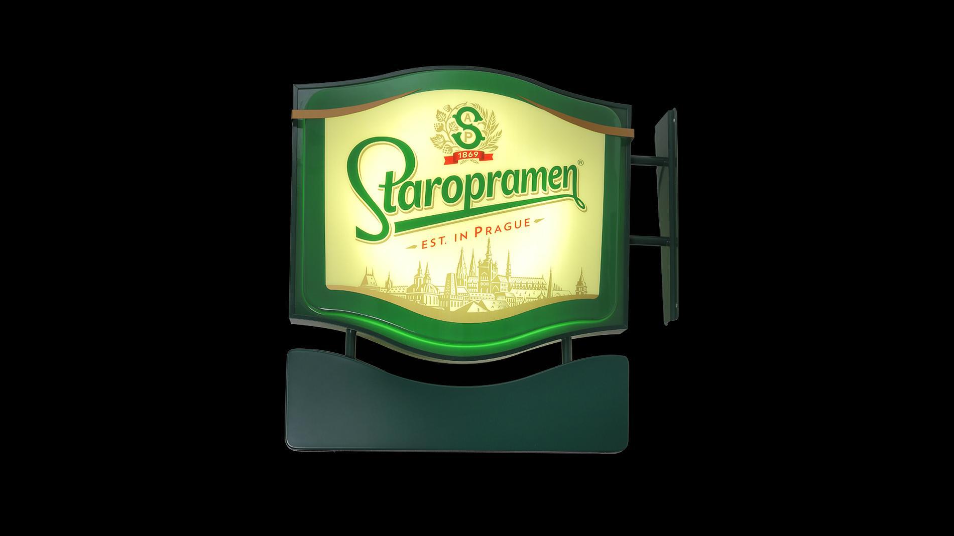 exterior lightbox Staropramen, POS materials